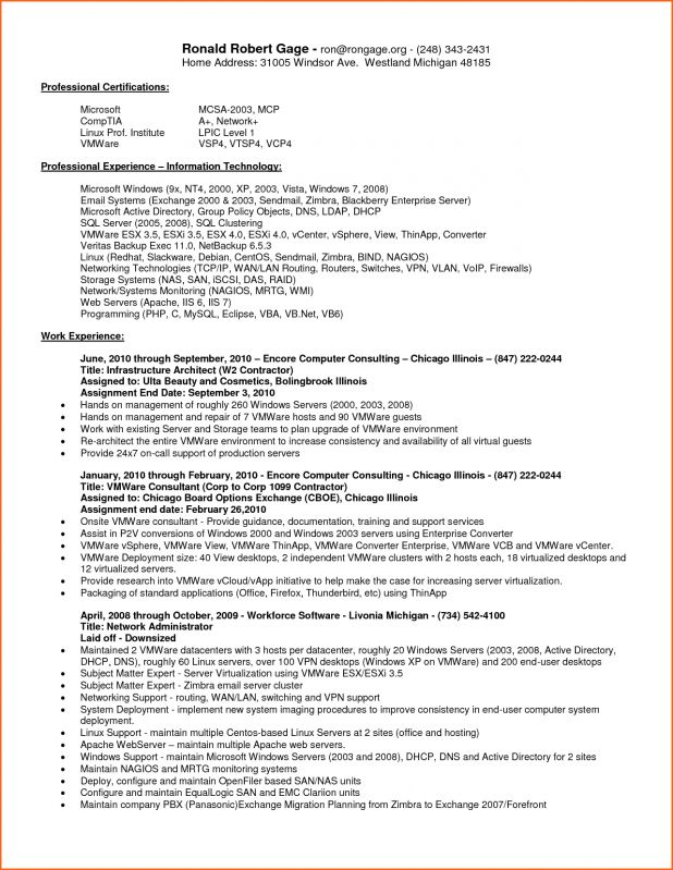 Lovely Idea Vmware Resume 15 System Administrator Resume Samples ...