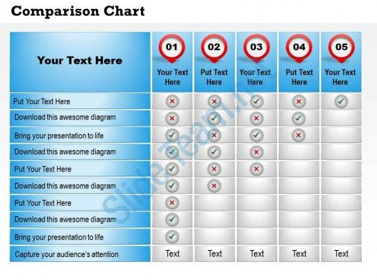 0314 Product Features Comparison Chart | Presentation PowerPoint ...