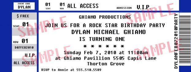 Concert Ticket Templates : Selimtd