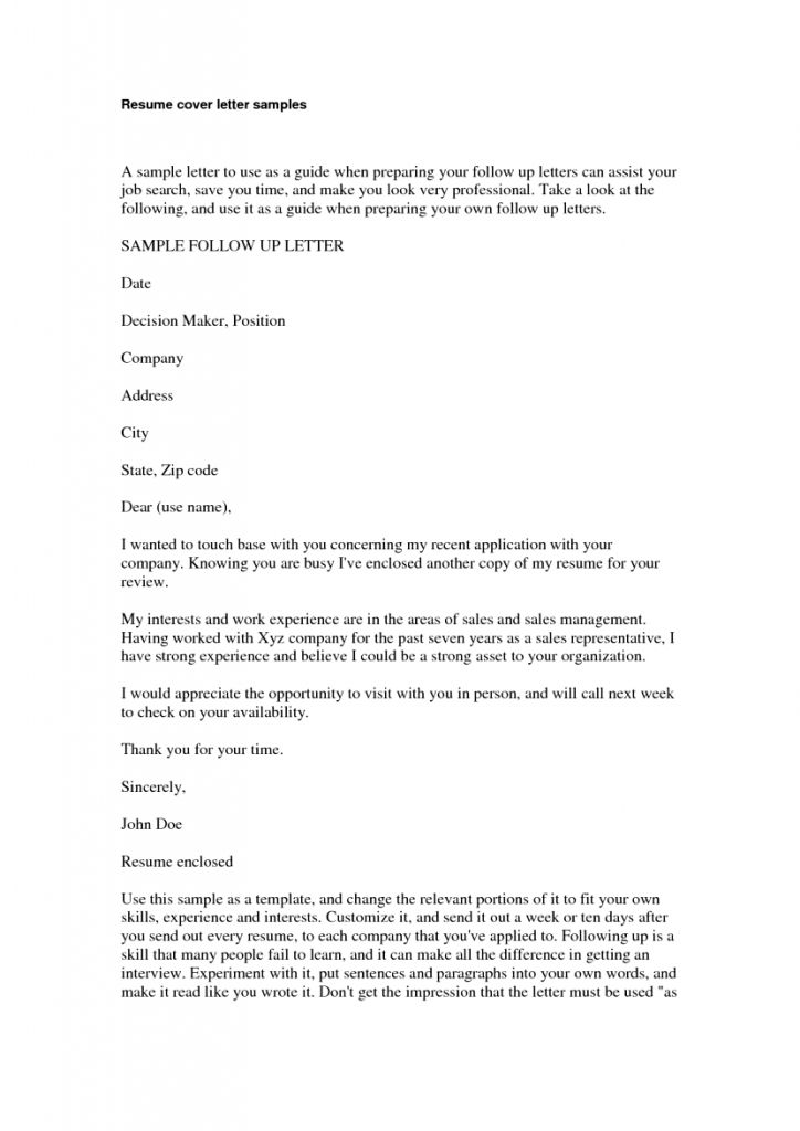 cover letter example for work experience