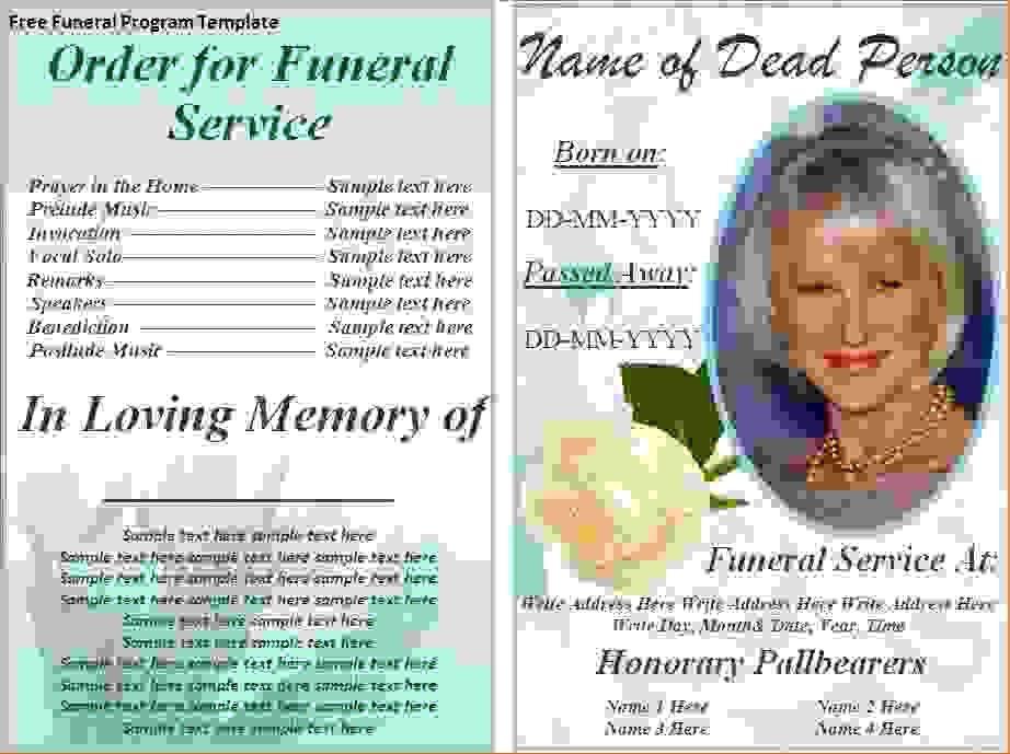 6 Funeral Programs ExamplesAgenda Template Sample   Agenda ...
