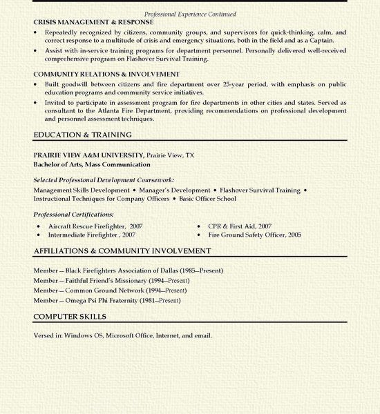 Unthinkable Firefighter Resume Examples 9 Fireman Resume Example ...
