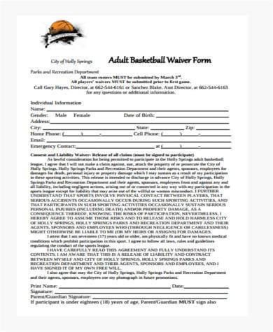 8+ Sample Waiver Forms - Free Sample, Example Format Download