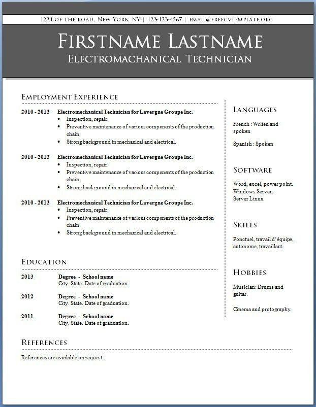 Download Resume Template Word 2010 | haadyaooverbayresort.com