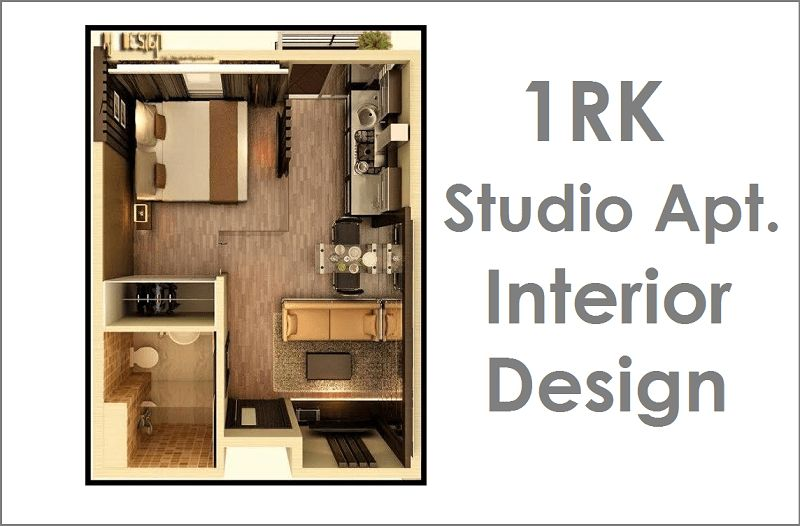 1RK Studio Apartment - Interior Design | CivilLane