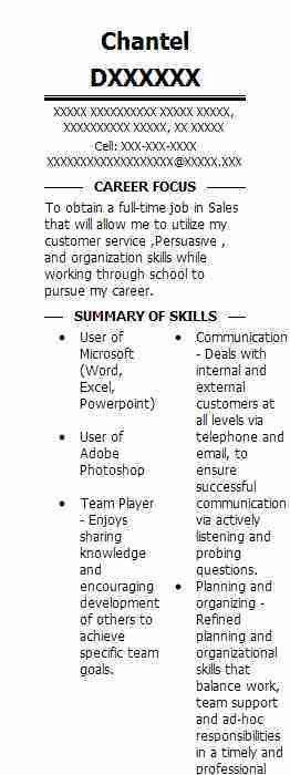 Simple Sales Associate Resume Example | LiveCareer