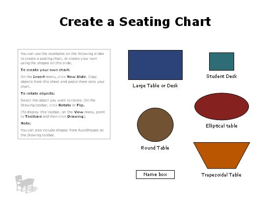 Seating charts - Office Templates