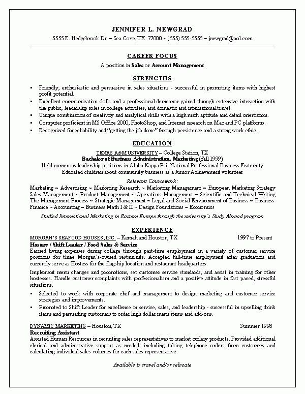New Grad Resume | The Best Resume