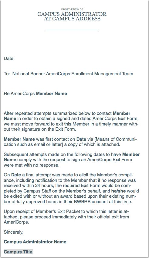 The Bonner Network Wiki / Guide to Exiting AmeriCorps Members