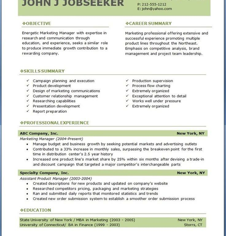 Absolutely Smart Professional Resume Template Word 16 25 Best ...