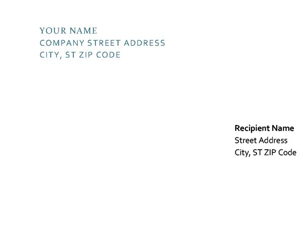 Letterhead and envelope - Office Templates