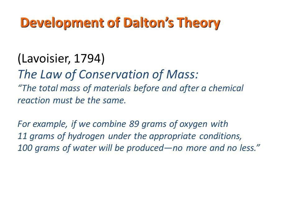 CHEMISTRY TIMELINE #1 1800's Joseph Proust: The law of definite ...