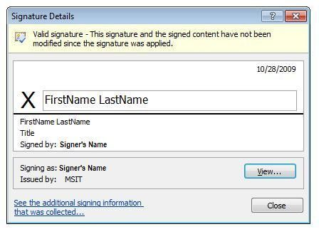 How to tell if a digital signature is trustworthy - Office Support