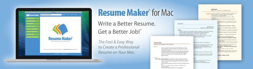 Home | ResumeMaker for Mac