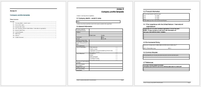 Company Profile Sample Templates - Create a Professional Profile