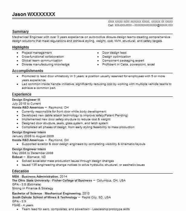 3 Amazing Engineering Resume Examples | LiveCareer