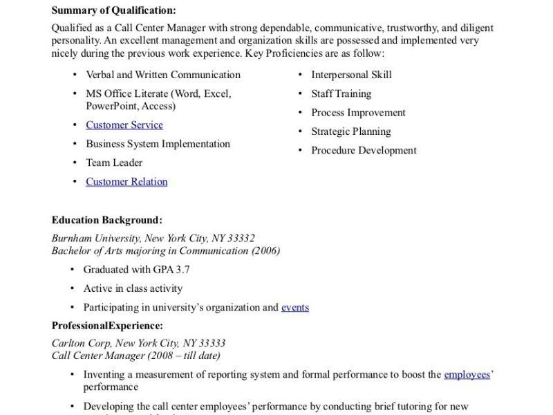 Call Center Resume Examples. 12 Best Call Center Resume Samples 9 ...