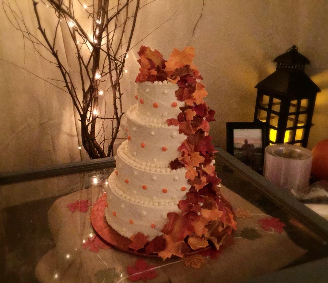 Teal wedding cake fall wisconsin guru by cakeguru via