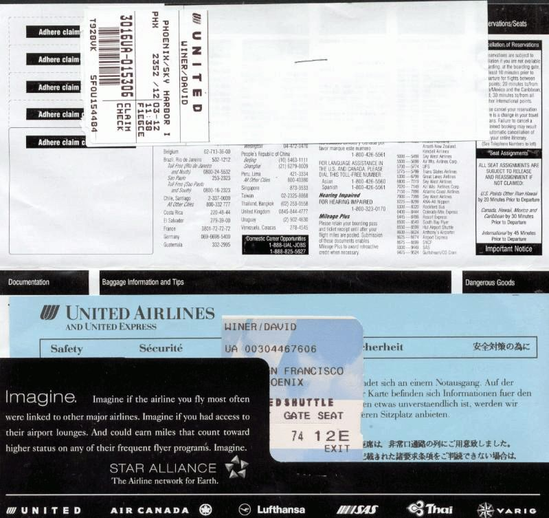 Interesting Airline Ticket Template Example with Personal ...