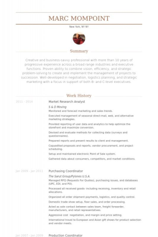 Market Research Resume – Resume Examples
