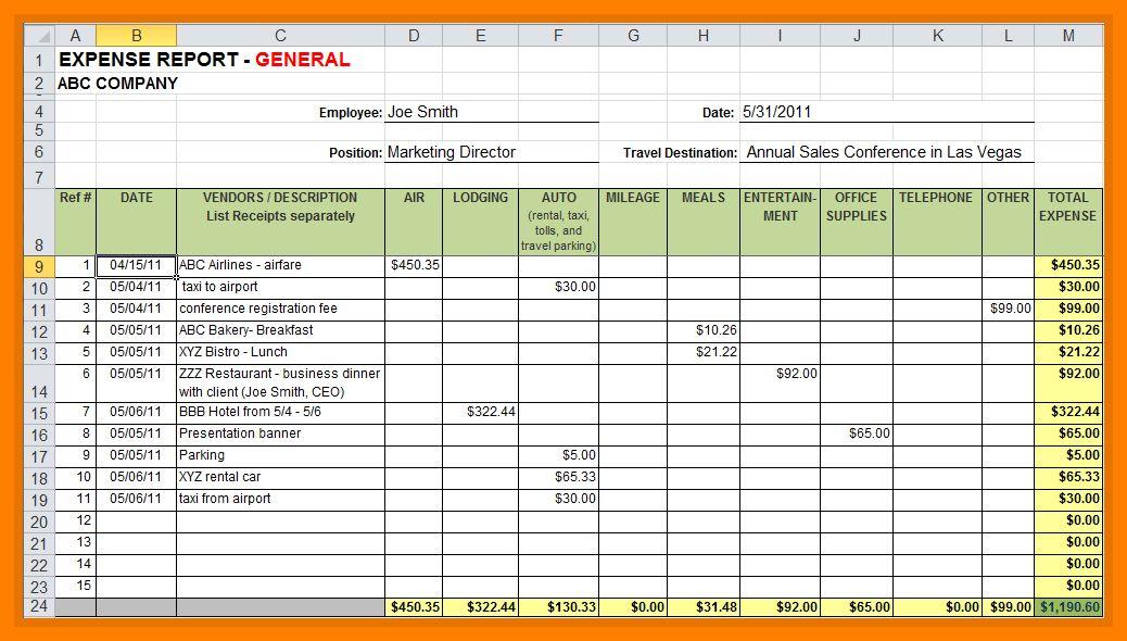 7+ sample expense reports | handy man resume