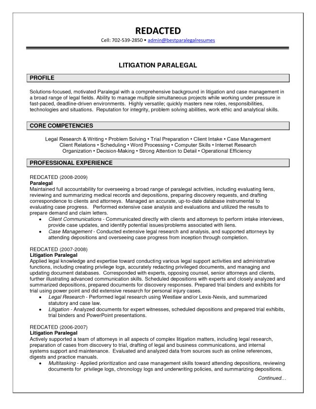 Senior Litigation Case Manager Resume Sample : Vinodomia