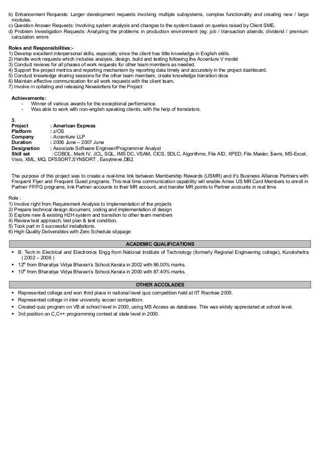 Narayanan Doraiswamy Resume