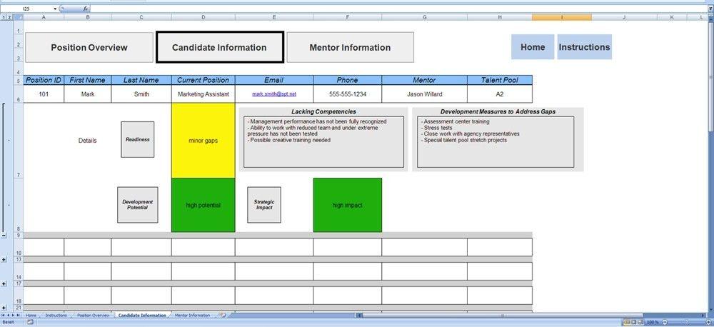 Succession Planning Template | peerpex