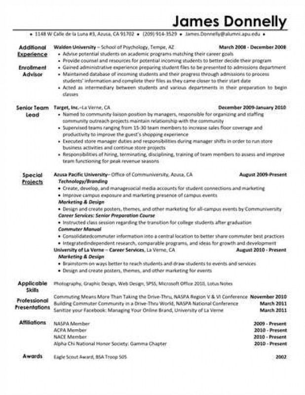 Extracurricular Activities On Resume – Resume Examples