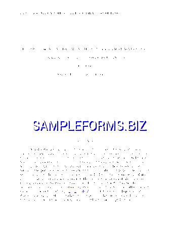 Thesis Writing Template & samples forms
