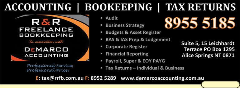R & R Freelance Bookkeeping - Alice Springs Accountant Find