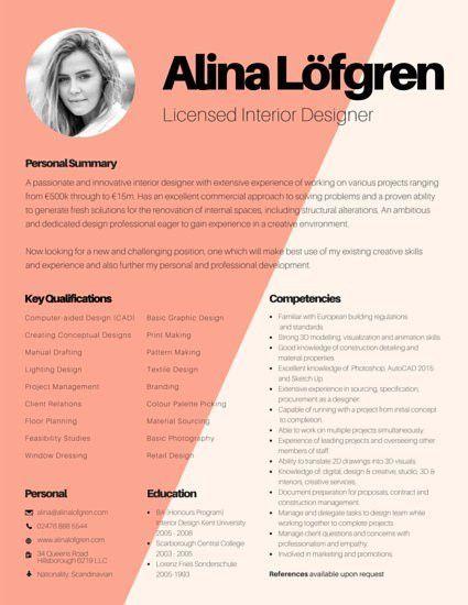 Creative Interior Designer Resume - Templates by Canva