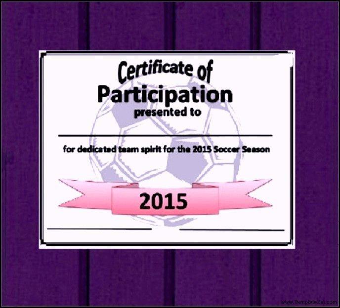 Participation Certificate Template Word | TemplateZet