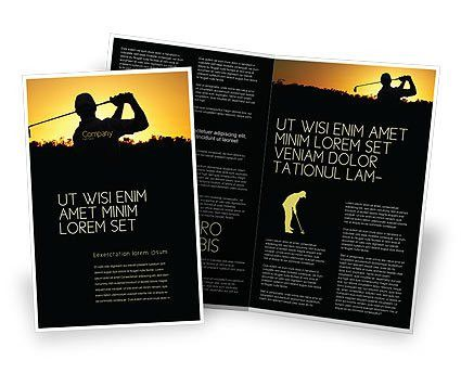 Golf Game On The Sunset Brochure Template Design and Layout ...