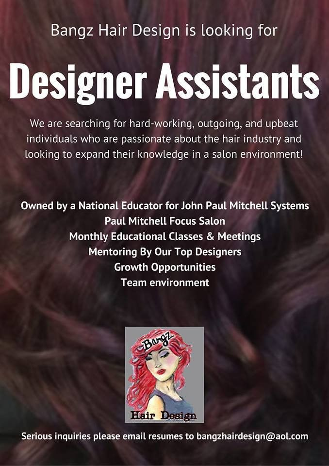 Bangz Hair Design Hiring - Lake Tech's Career Center
