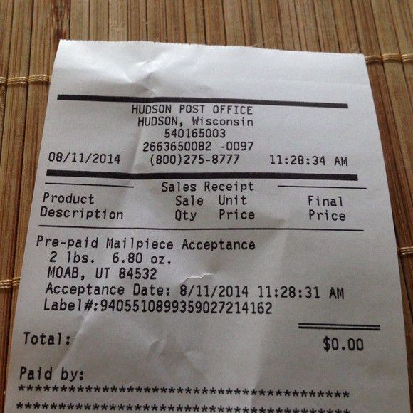 Not for sale proof of shipment Receipt from Alyssa's closet on ...
