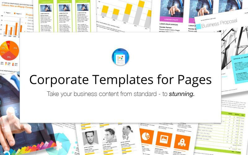 Corporate Templates for Pages on the Mac App Store