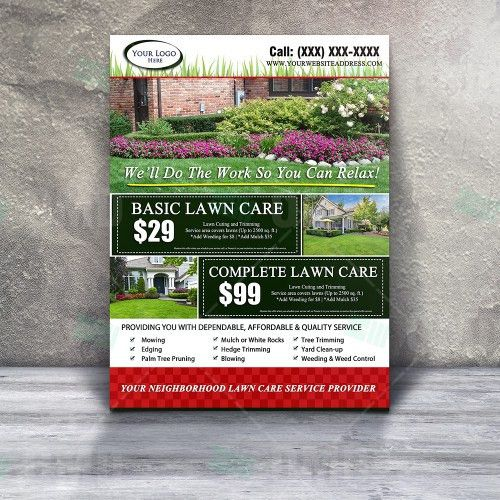 Lawn Care Flyer Design #5 – The Lawn Market