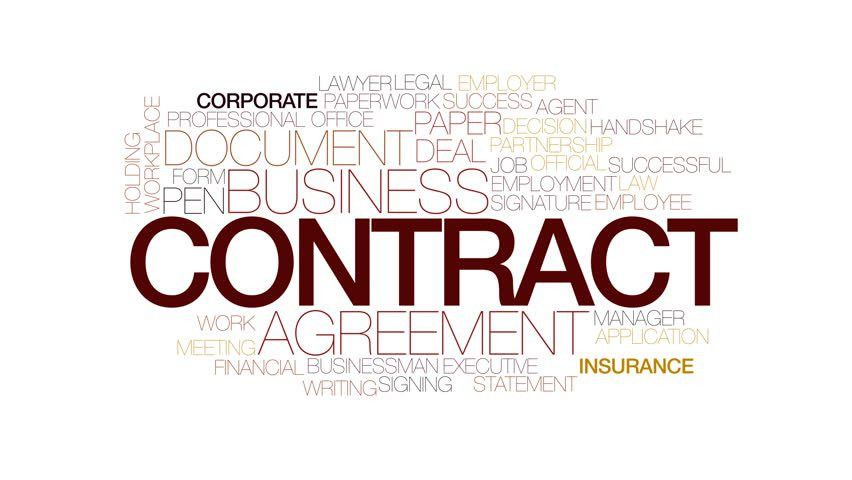 Contract Animated Word Cloud. Stock Footage Video 23071279 ...