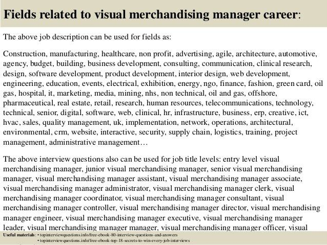 Top 10 visual merchandising manager interview questions and answers