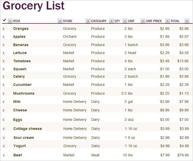 Shopping List Template - 6+ Free PDF, Word Documents Download ...