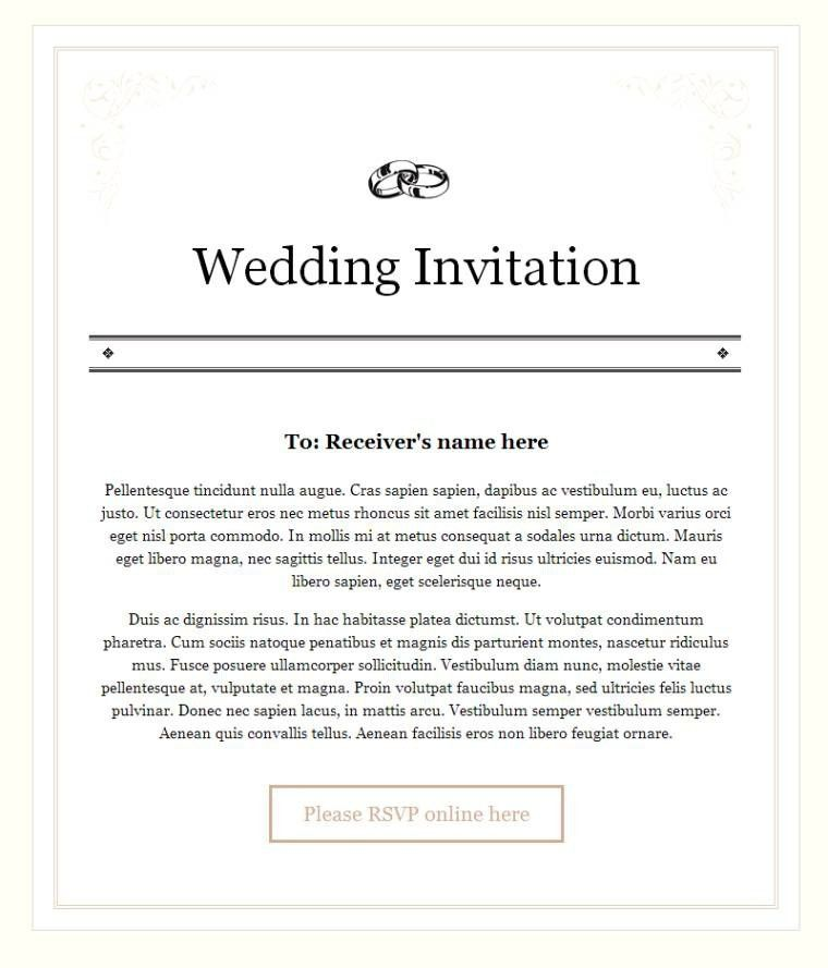 Templates Classic Email Wedding Invitations And Rsvp With Image Hd ...