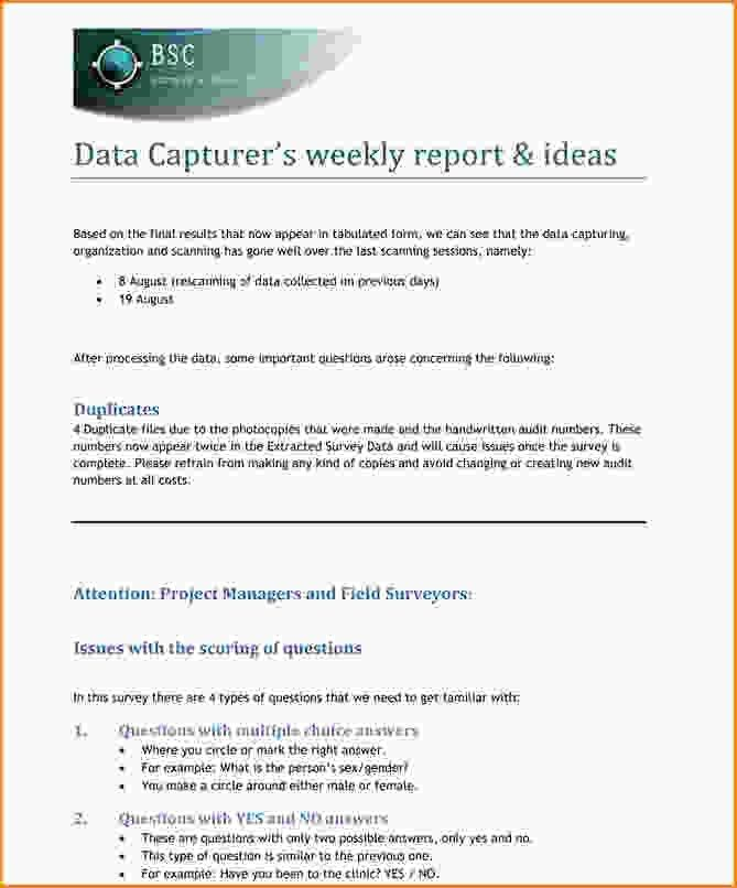 Writing business report example