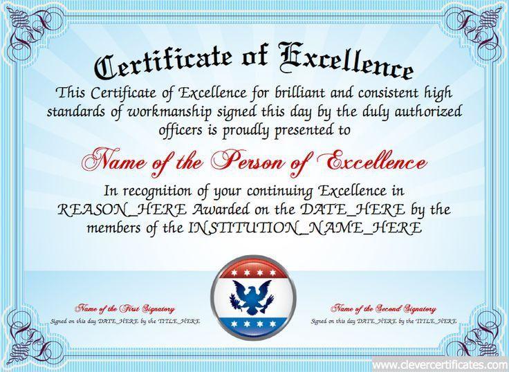 23 best Award Certificate Templates images on Pinterest ...