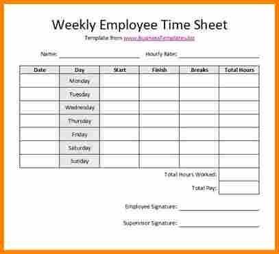 7+ weekly timesheet template word | employee-timesheet