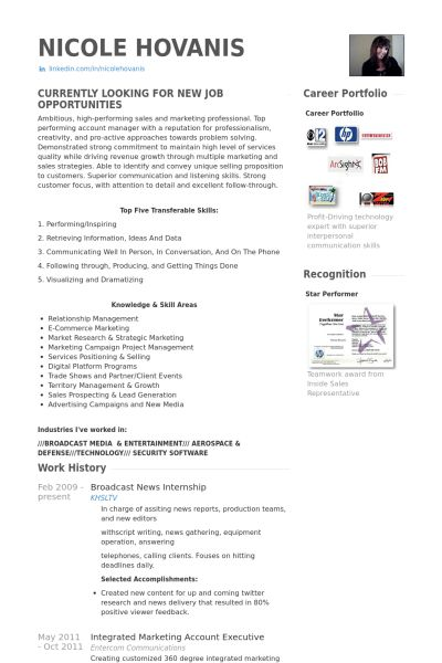 News Intern Resume samples - VisualCV resume samples database