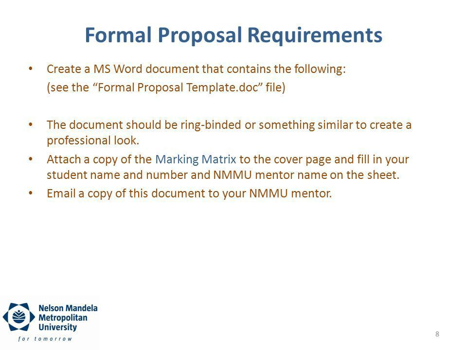 The Draft and Formal Project Proposal - ppt download
