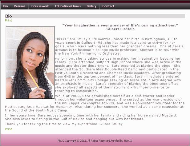Biography   Student e-Portfolio Online Tutorials