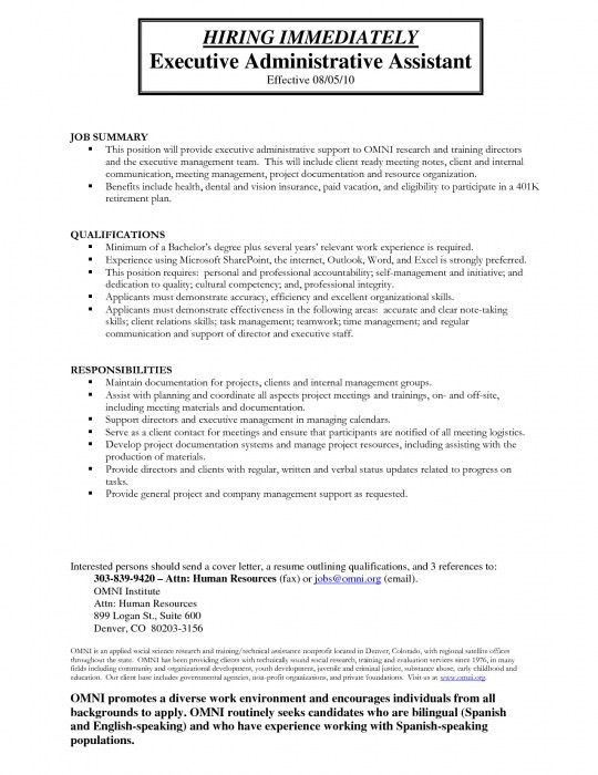 perfect administrative assistant resume administrative assistant