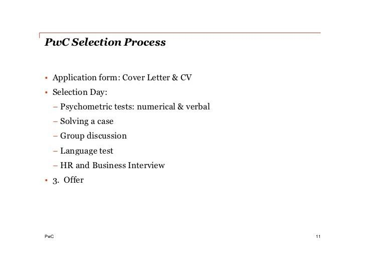 PwC soft skill workshop: Surviving an interview
